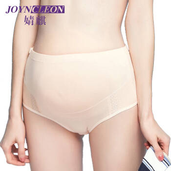 婧麒孕婦內褲內衣產婦內褲純棉高腰托腹可調節jq9001 膚色 L *3件