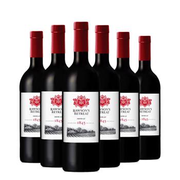 洛神山庄1845干红葡萄酒750ml 澳洲原瓶进口红酒 设拉子750ml*6,降价幅度40.2%