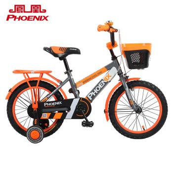 凤凰 Phoenix 宝宝童车自行车3-8岁?#20449;?#20799;童?#38477;?#36710;小孩子玩具脚踏单车14寸灰橘色,降价幅度28.6%