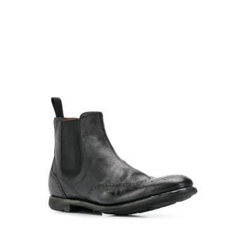 CHURCH'S 男士 經典切爾西靴 ETG0099PW 黑色 UK10