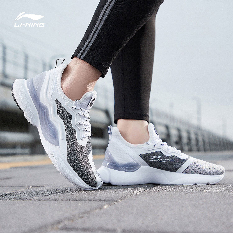 李寧跑步鞋女鞋2019新款CrazyRun-X減震跑鞋情侶鞋春季低幫運動鞋
