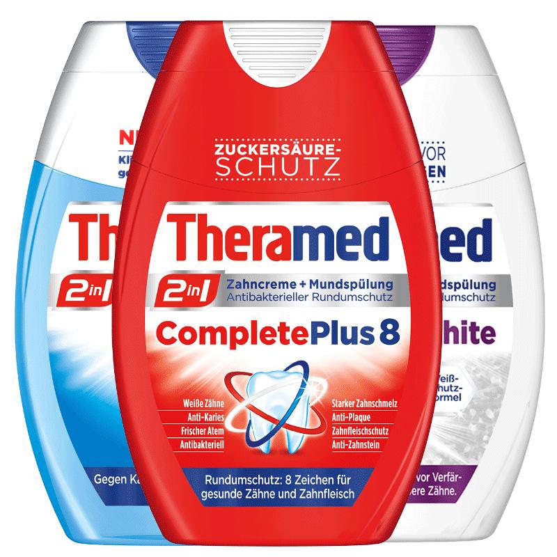 漢高Theramed護齒達美白去黃含氟二合一原裝進口便攜牙膏75ml *2件