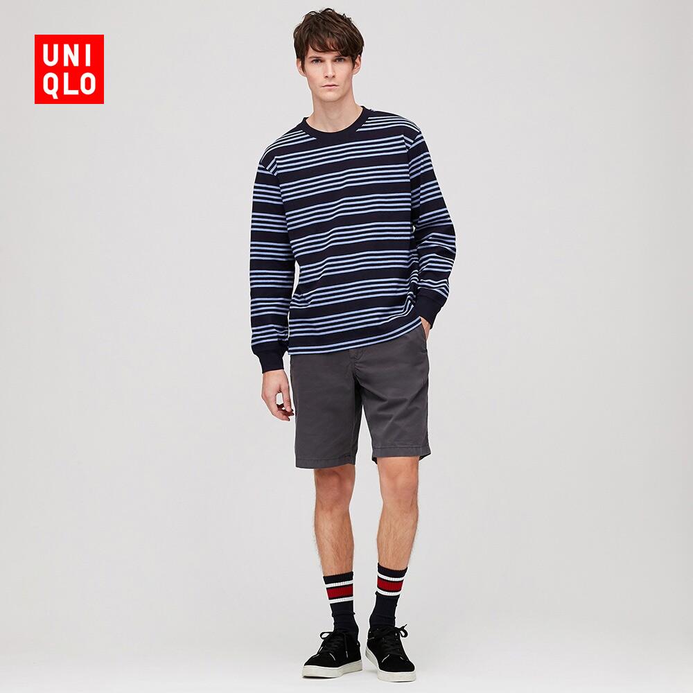 男裝 橫條T恤(長袖) 421635 優衣庫UNIQLO