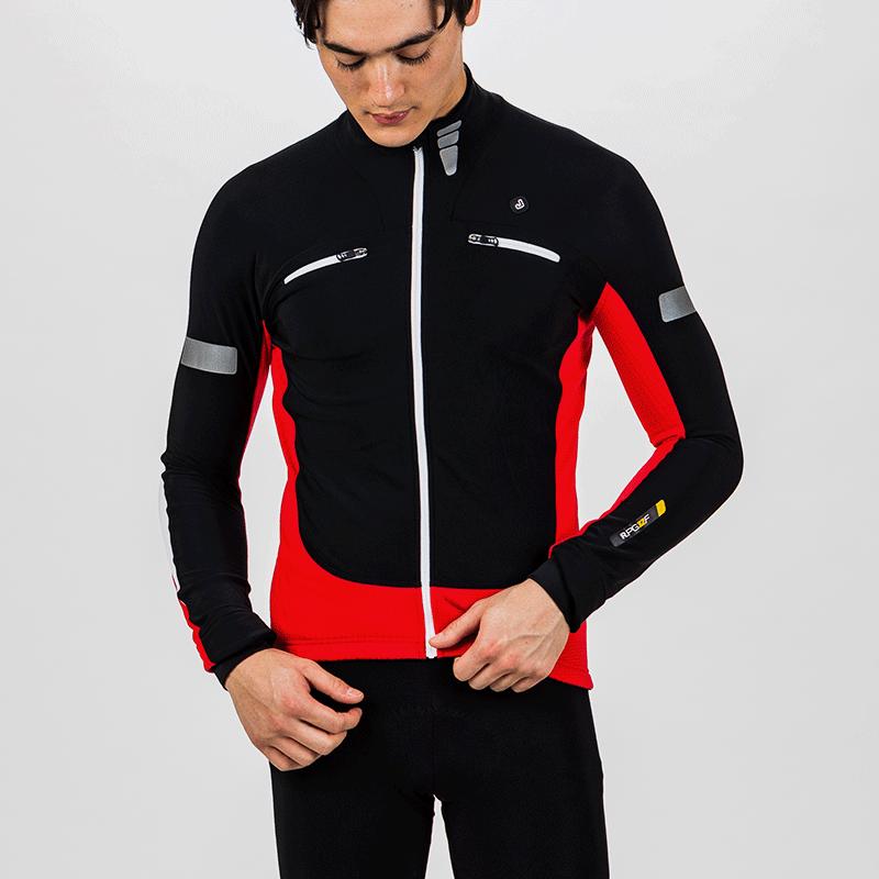 捷酷秋冬抓绒男士骑行服套装上装 骑行服装备男保暖骑行服 自行车,降价幅度39.6%