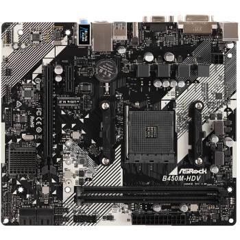 華擎(ASRock)B450M-HDV R4.0主板
