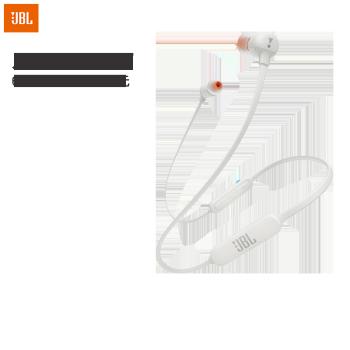 JBL T110BT 入耳式耳机 无线蓝牙耳机 运动耳机 颈挂式耳机带麦 通用苹果华为小米手机 白色,降价幅度33.4%