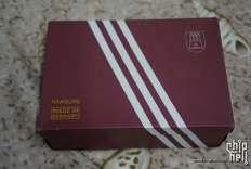 跟风开个箱 —— 一抹骚红  adidas Orginals Hamburg MIG