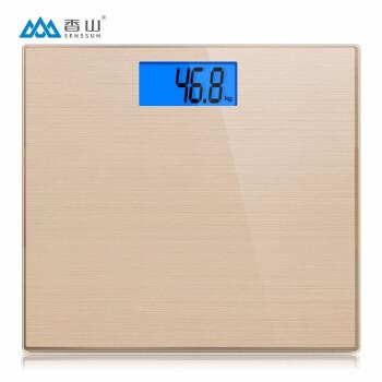 香山电子秤称重体重秤精准电子称家用人体秤 不锈钢拉丝特别版面宽大秤面 EB868H,降价幅度22.7%
