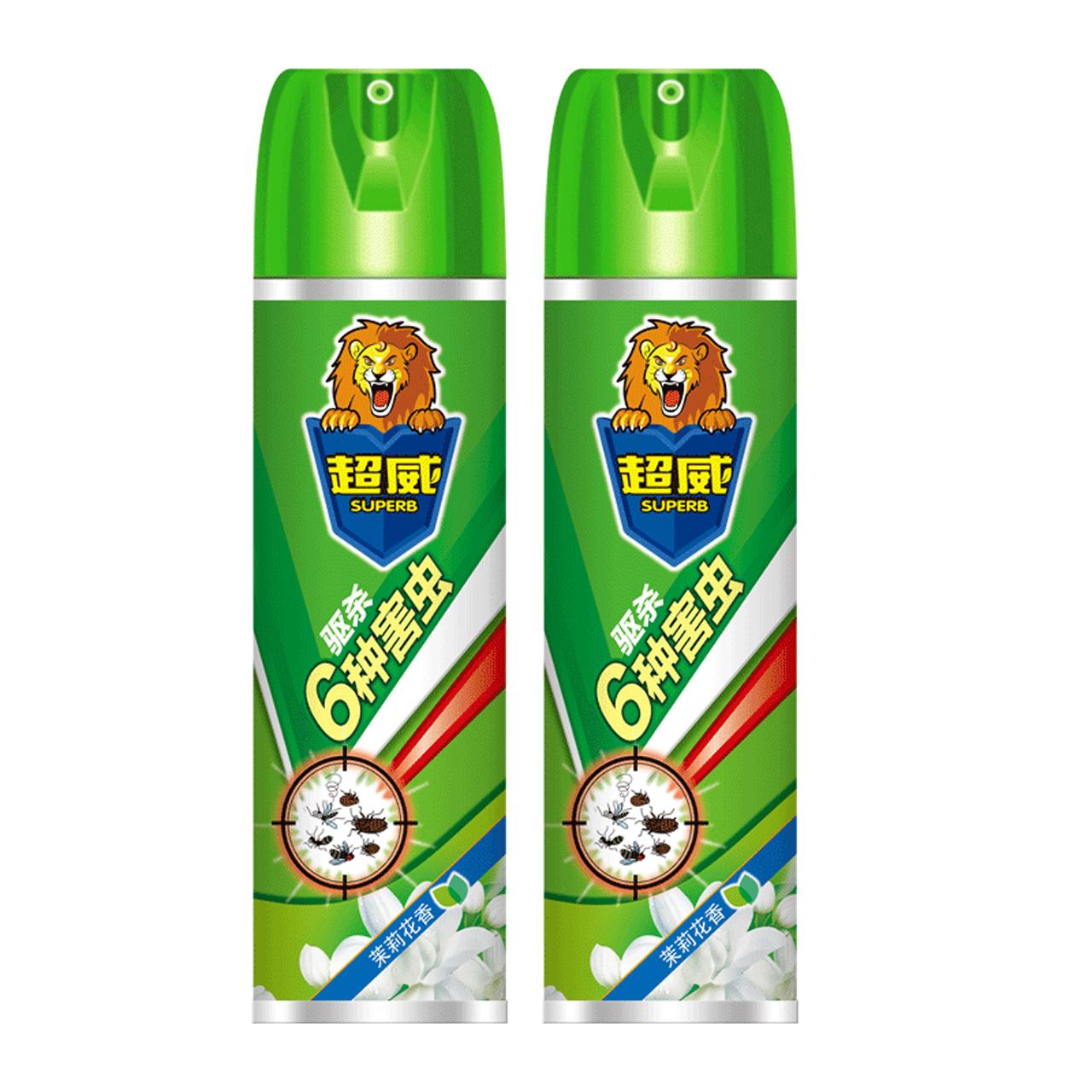 超威杀虫气雾剂茉莉花香300毫升*2杀蚊杀蟑螂杀蚂蚁驱杀6种害虫