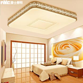 雷士照明(NVC)吸顶灯客厅灯卧室灯led灯具  花型缕空边框正方形三色可分控48W,降价幅度17.5%
