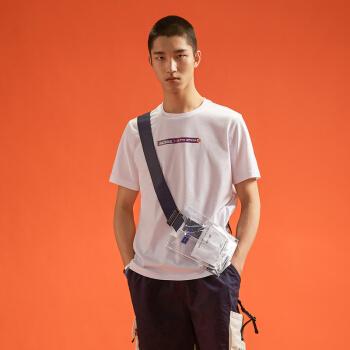 乐卡克法国公鸡龙珠联名款圆领短袖T恤男女CJ-0150191 白X短笛 L