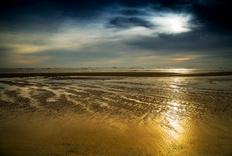 北戴河的海边日出 (1)