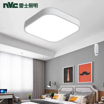 雷士(NVC)led吸顶灯北欧现代简约 方形卧室灯具 光语智能调光 超薄客厅卧室餐厅灯饰,降价幅度13.4%