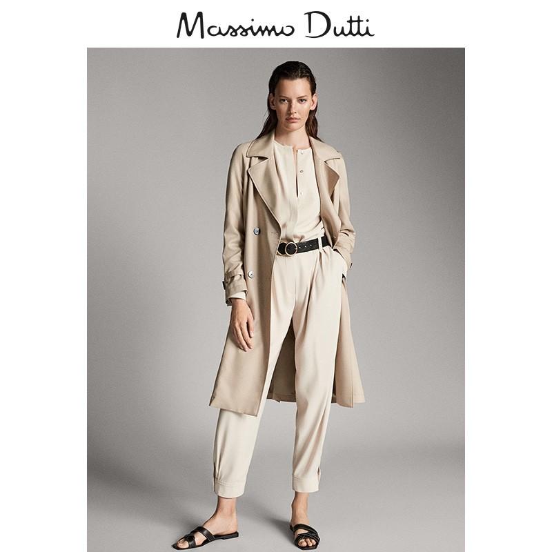 秋冬大促 Massimo Dutti女装 秋冬纹理斜纹布女式衬衫长袖上衣 05172786990,降价幅度72.5%