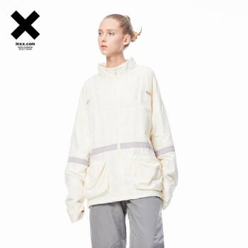 inxx sports 潮牌简约字母印花运动短外套通款SI94147348 米白色 S,降价幅度24.5%