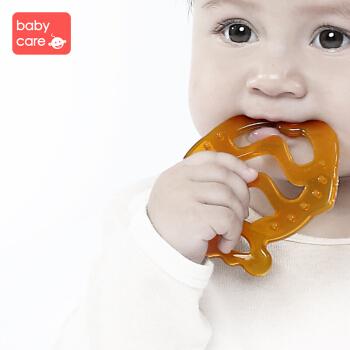 babycare牙胶婴儿咬咬乐磨牙棒宝宝牙胶玩具纳米银硅胶 fish 升级款