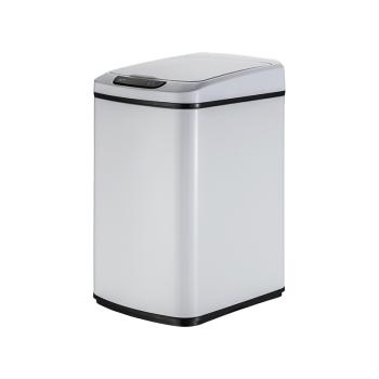 麥桶桶(Mr.Bin) 智能感應垃圾桶大號不銹鋼電動帶蓋翻蓋自動衛生間廚房臥室廁所家用創意垃圾筒 12L 純白色,降價幅度29.7%