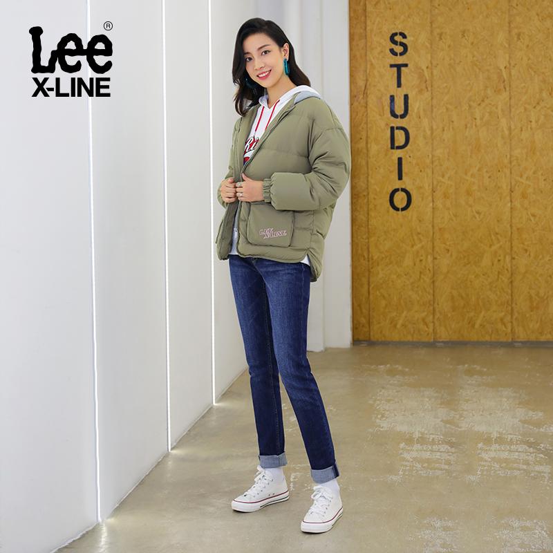 LeeX-LINE秋冬女深蓝色修身小脚牛仔裤LWS4333QJ8SJ,降价幅度41.7%