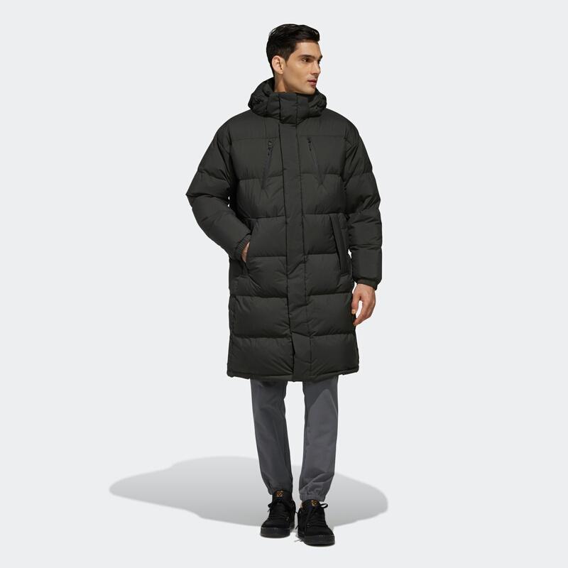 阿迪達斯官網adidas PUFFY LONG DOWN男裝冬季戶外運動羽絨服EH4007 如圖 M