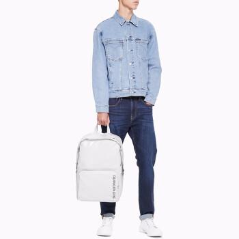 CK JEANS 2019春夏新款 男士Logo休闲旅行双肩包 HH1774U3600 391-白色 ST,降价幅度50%
