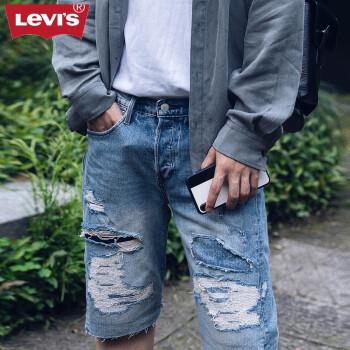 Levi's Engineered Jeans 男士502标准锥型牛仔短裤72776-0000 浅牛仔色 31