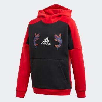 阿迪達斯官網 adidas YB MIC HDY SWT 大童裝訓練運動衛衣GG1025 淺腥紅 A128