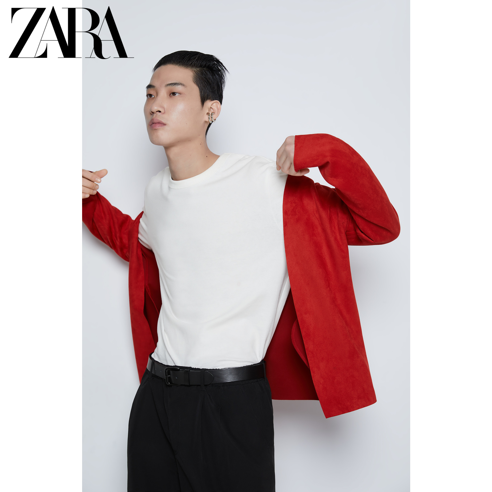 ZARA 新款 男装 鼠年系列 红色绒面质感效果西装外套 03548610600,降价幅度33.4%