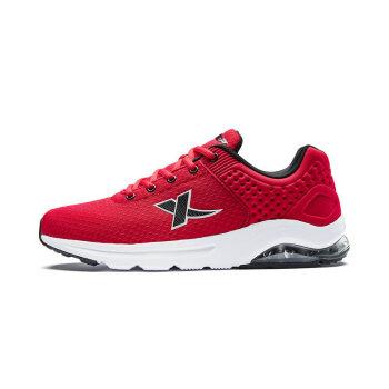 特步男鞋运动鞋透气跑步鞋新款气垫鞋轻便舒适休闲鞋983219119190 红黑 41码
