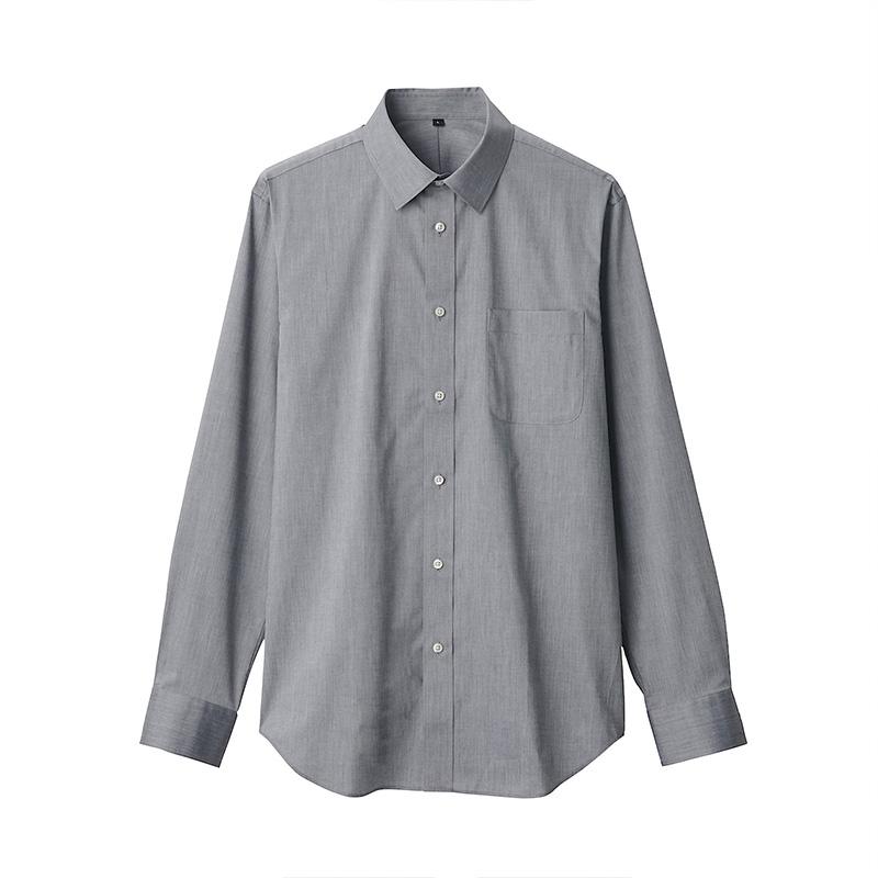 无印良品 MUJI 男式 新疆棉弹力定型平纹 衬衫,降价幅度30%