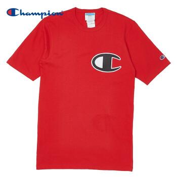 CHAMPION LIFE 大C LOGO短袖T恤 猩红色-2WC L,降价幅度48.4%