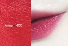 阿玛尼 丝绒哑光红管唇釉400、405、510试色