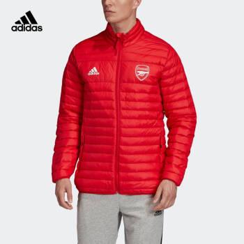 阿迪達斯官網 adidas 男裝冬季阿森納足球立領拉鏈短款羽絨服運動外套FQ4110 如圖 M