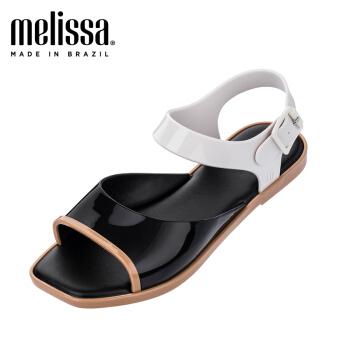 Melissa2019春夏Crush 时尚方头?#38477;?#20937;鞋简约度假果冻鞋女32431 黑色/白色/米色 7,降价幅度27.5%