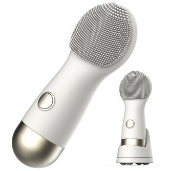 德尔玛(Deerma) 洁面仪震动硅胶无线净颜/按摩/美容三合一 JM126 白色