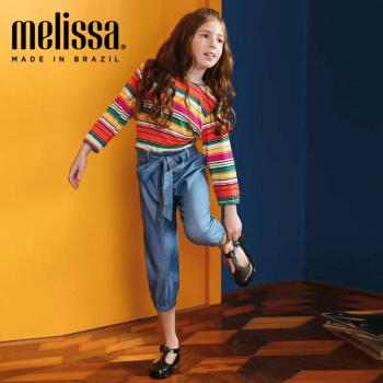 Mini Melissa梅丽莎19春夏Maggie Bb小童圆头粉嫩系扣果冻鞋32535 粉色/闪粉色 内长14.5cm,降价幅度10%