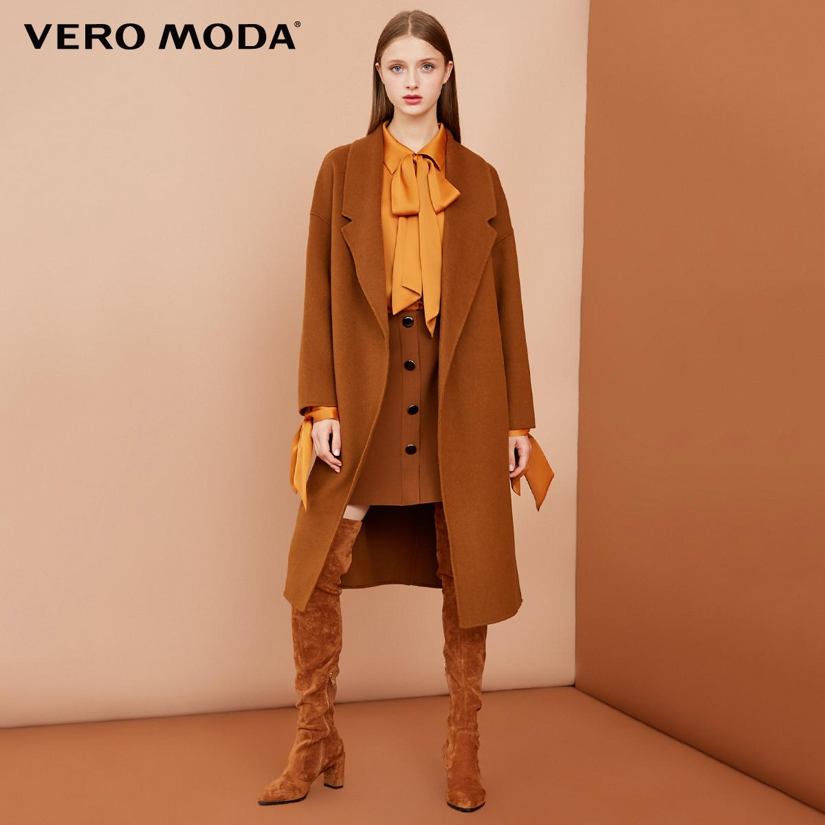 11.11预售Vero Moda100%羊毛我外套毛呢大衣|318427509,降价幅度20%
