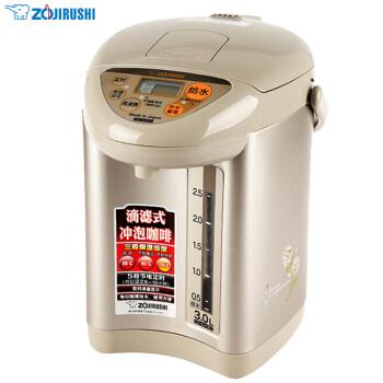 象印(ZO JIRUSHI)電熱水瓶家用 不銹鋼內膽 電熱水壺 CD-JUH30C-CT 3L電水壺 香檳金色,降價幅度35%