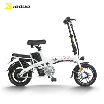 小刀 一多(ieduo)折叠电动自行车 3C新国标48V锂电成人?#20449;?#36229;轻便携迷你小型助力代驾代?#38477;?#29942;车 N2 皎月白,降价幅度11.5%