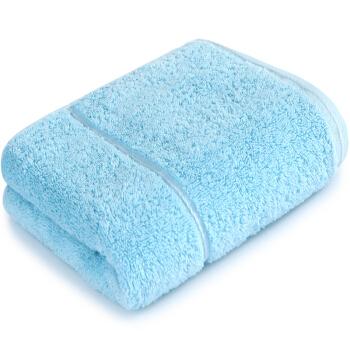 三利 A類長絨棉毛巾1條 純棉高毛圈洗臉巾 帶掛繩潔面巾   34*76cm 勿忘草色,降價幅度34%
