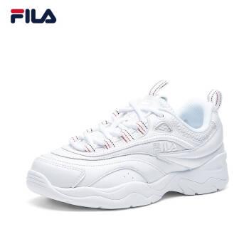 FILA 斐樂女鞋官方 RAY 老爹鞋女子跑鞋 簡約ins潮流休閑鞋 集團白-WT 35.5,降價幅度20.7%