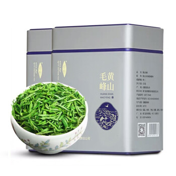 祁野 2019新茶 明前特级黄山毛峰 原产地茶叶绿茶嫩芽春茶2罐装共250克,降价幅度17.5%