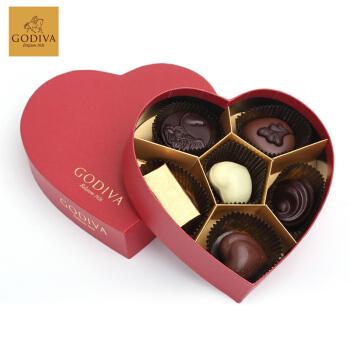 GODIVA歌帝梵紅色心形禮盒6顆裝 比利時進口品質保證,降價幅度20%