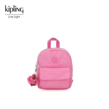 Kipling女款迷你帆布轻便双肩背时尚简约休闲双肩包|ROSALIND 波西粉,降价幅度14.9%