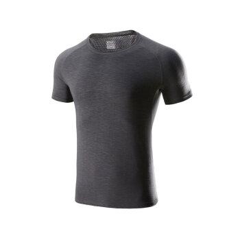 必迈bmai 轻薄短袖男 短T恤 轻盈透气FRTC003 ?#26723;?#28784; M,降价幅度75.6%