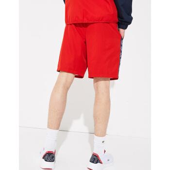LACOSTE法国鳄鱼男装19春夏舒适透气宽松网球短裤 GH3582M1 528红色 06/XL,降价幅度33.3%