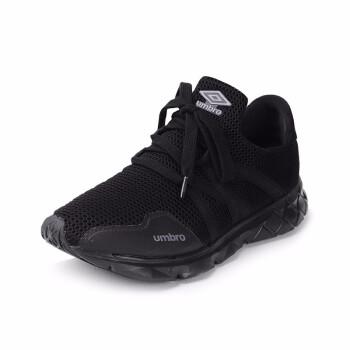 Umbro茵宝2019年夏季新款女士轻质情侣款运动跑步鞋 UI192FT0206-999黑色 36.5