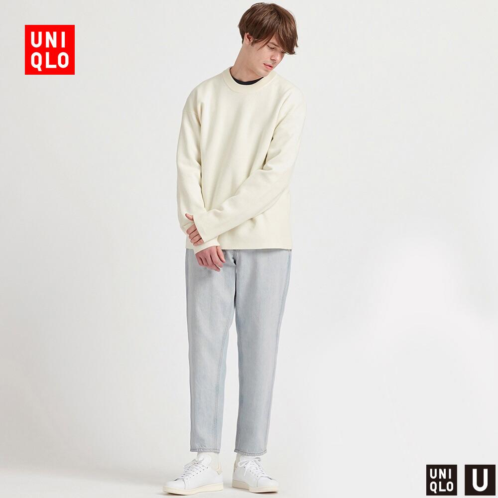 码子很准,板型很好,很舒服,穿上好看。男装 宽腿窄口牛仔裤(水洗产品) 425818 优衣库,降价幅度33.4%