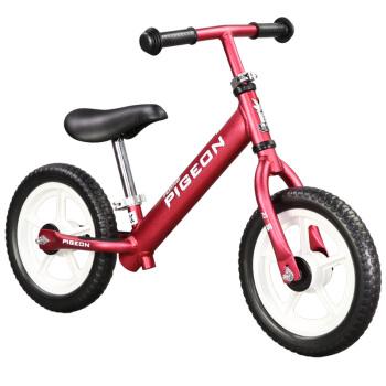 飞鸽(PIGEON)儿童平衡车滑步车 2-3-9岁宝宝 玩具溜溜车滑行学步车扭扭车儿童自行?#20302;低?#20855;车 酒红色,降价幅度13.7%