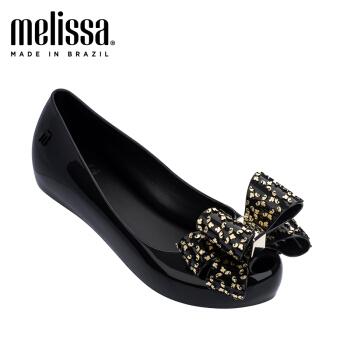 Melissa19春夏Ultragirl Sweet IV凉鞋女亮片果冻鞋中童鞋32497 黑色 内长21.5cm,降价幅度20%