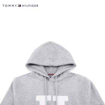 TOMMY HILFIGER 男装2019秋季套头卫衣 MW0MW11563 灰色P9V S,降价幅度30%